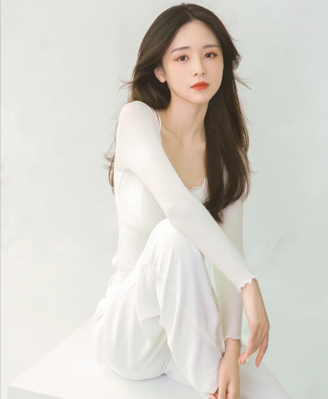 美女女神,非常有气质的白衣女神