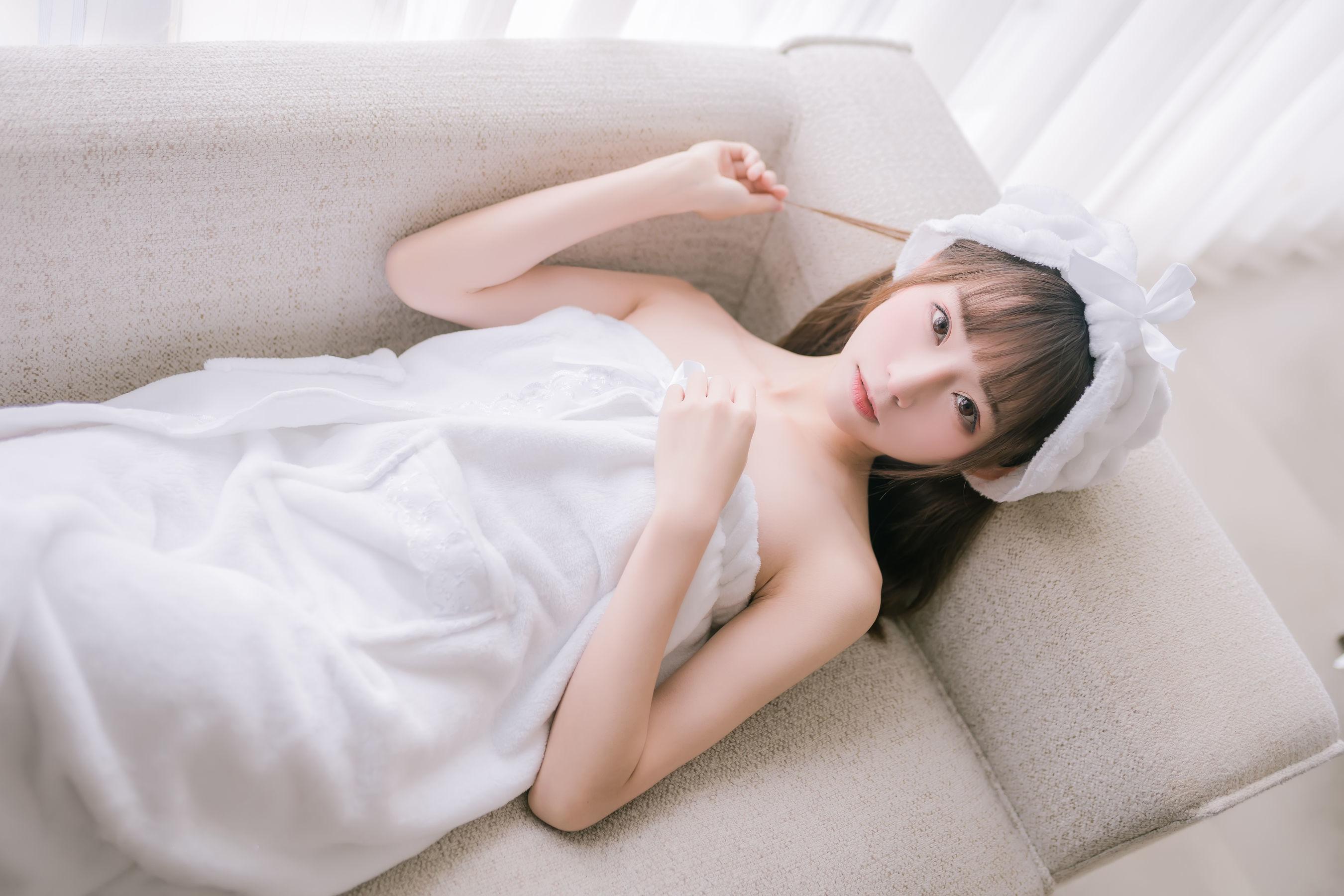Kitaro_绮太郎 - 纯白浴巾 写真 ...